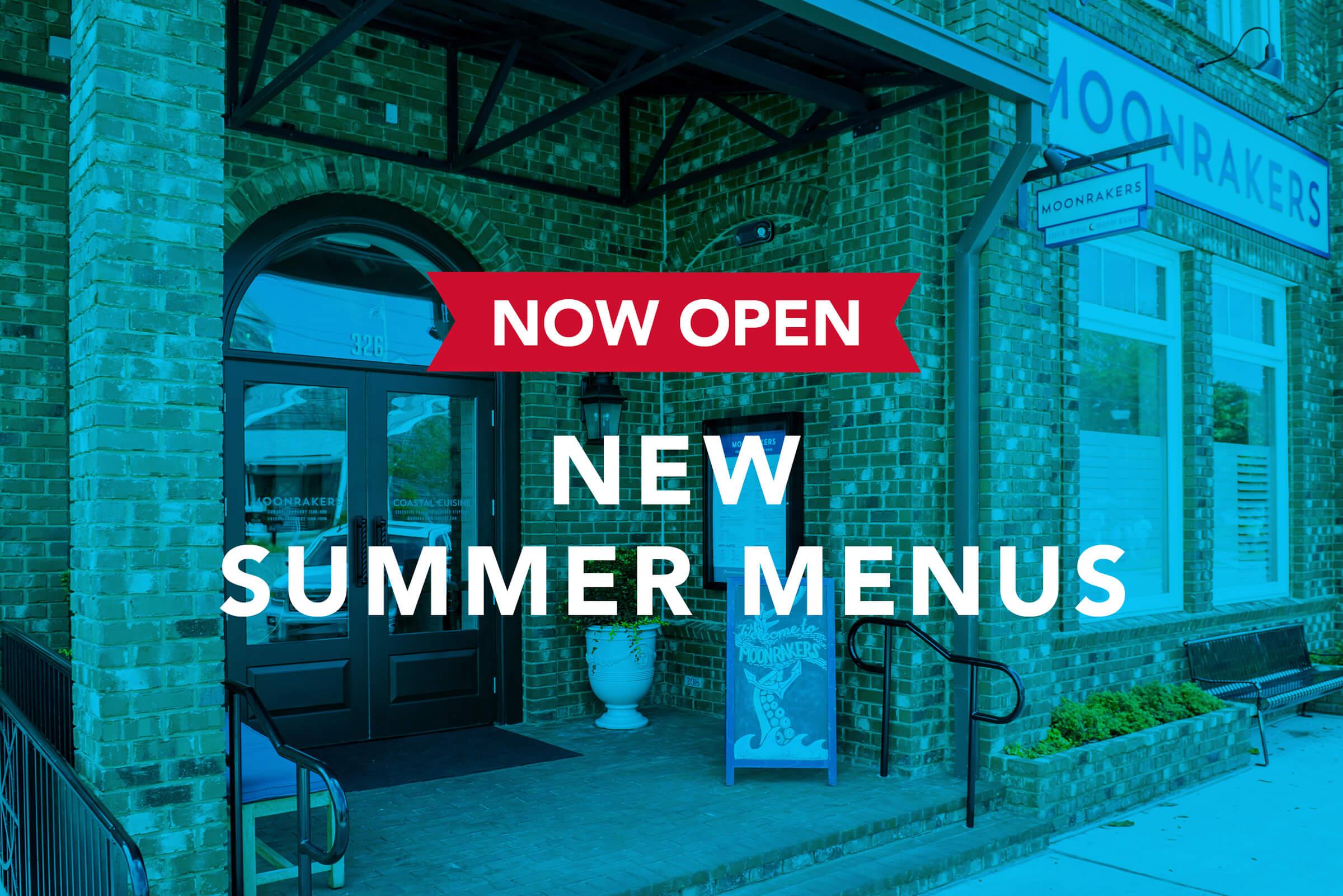 new summer menus
